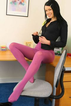 Only Opaques – Sophie In Bright Pink Pantyhose