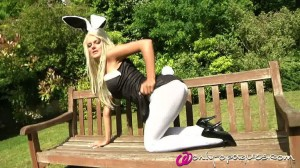 Only Opaques - Katie T In Bunny Dress Outdoors
